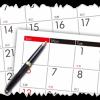 カレンダー(曜日、スケジュール)
